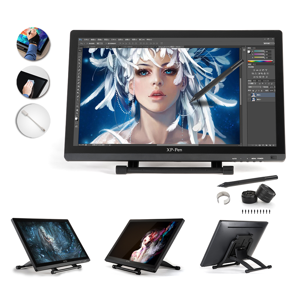 "XP-Pen 21.5"" HD IPS Graphic Tablet Interactive Monitor Full View Angle Extended Mode Display for Apple Macbook supporting HDMI(China (Mainland))"