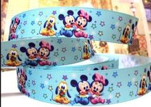 (5yds per roll) 5Y356 free shipping 1 '' baby printed ribbon Grosgrain ribbon welcome oem your own designs(China)