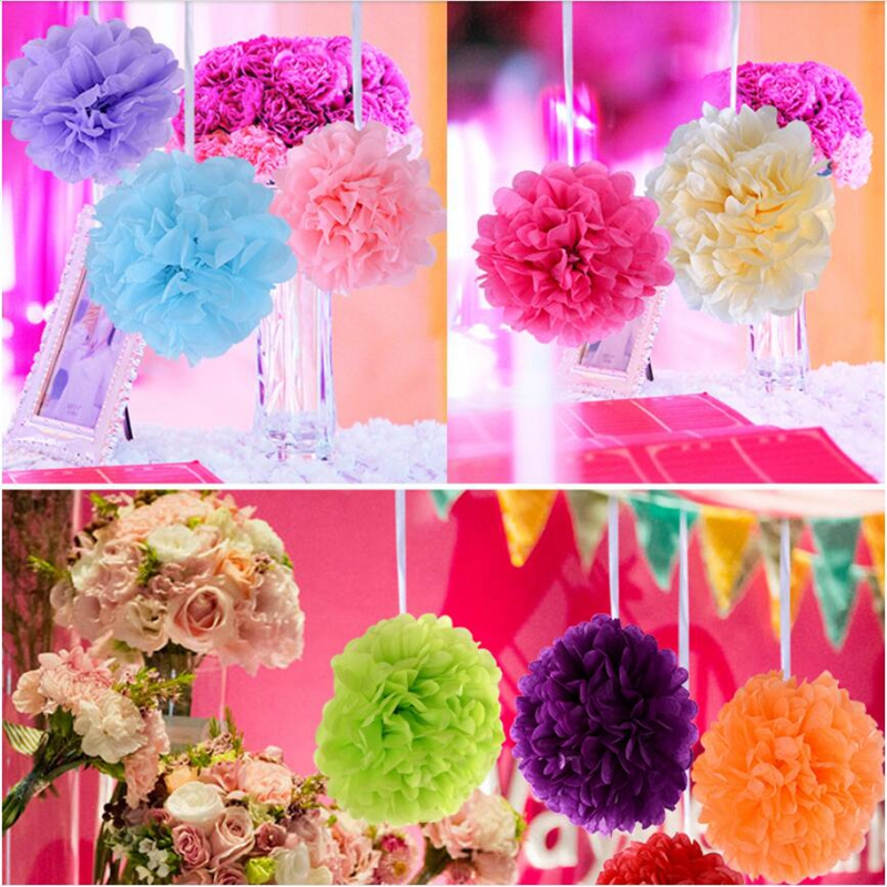 2018 party 8 inches 20cm artificial flowers tissue paper pom poms product real photo aeproduct mightylinksfo