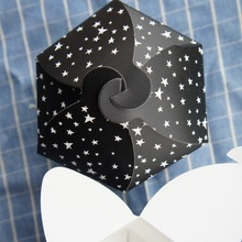 12*9.5cm 10 PCS black star paper box candy soap handmade cookie chocolate packaging Christmas valentine's day birthday make wish(China)