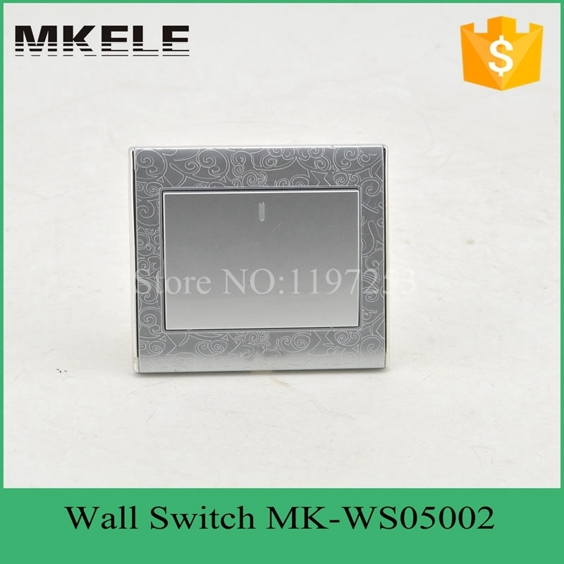 MK-WS05002(Silver) CE  flame retardant material silver color 1 Gang  2 Way new design electric wall light switch for home<br><br>Aliexpress