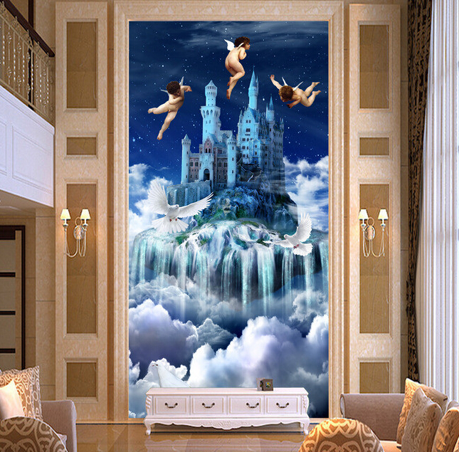 Custom 3D wallpaper. Creative fantasy angel heaven murals for the living room wall vinyl papel de parede<br>