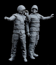 1/35 Modern Canadian army tank crew in Afghanistan 2people Resin Model Kit figure Free Shipping
