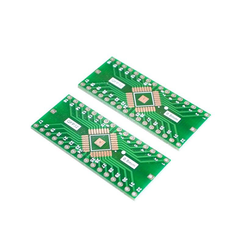 5pcs/lot QFP32 turn DIP32 TQFP LQFP EQFP transfer panel 0.8mm pin spacing decoupling filter.