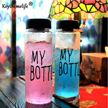 Keythemelife Rainbow Color Water Bottles 500mL Frosted Leak-proof Portable tools Summer Autumn Outdoor Sport Water Bottle DA