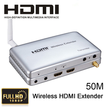 HDMI v1.4a Wireless Tansmission Extender 50M 5G HD Video Audio Wireless Transmitter / Receiver Support HDCP1.3,1920x1080/60Hz