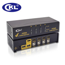 CKL 4 Port USB Auto KVM Switch Support Button Switch Multiple Video HDMI Switcher for Keyboard Mouse 1080P (CKL-94H)