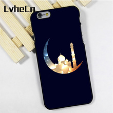 LvheCn phone case cover fit for iPhone 4 4s 5 5s 5c SE 6 6s 7 8 plus X ipod touch 4 5 6 Moon With Mosque Islamic(China)