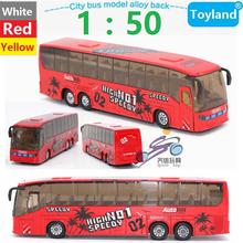 High imitation 1:50 Alloy City Bus Model Toys Pull Back/Flashing/Musical Cars Model toys BEST Gift for Children Free Shipping(China)