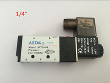 "5 Way 2 Position Airtac Electric Solenoid Valve 4V210-08 DC 24V DC12V AC110V AC220V 1/4"" Port Size"
