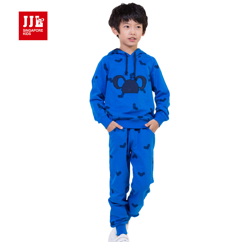 boys cute bear pirnt suit hoodie sweatshirt + harem pants size 4-11 years kids fashion clothes boys winter suits cartoon print <br>