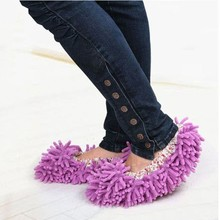 Hot Sales 1pair Dust Cleaner Grazing Slippers House Bathroom Floor Cleaning Mop Cleaner Slipper Lazy Shoes Cover Microfiber 5076