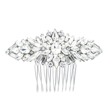 Crystals Rhinestone Hair Comb Women Hairpins Bridal Wedding Hair Jewelry Accessories Pageant Headpiece 4364(China)