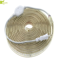 Kingoffer 1M~ 25M SMD 3014 AC 220V Led Strip Tape Waterproof Flexible Bar Light 120 Led/M With EU Plug Outdoor Garden Decor(China)