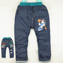 Autumn winter 1-4Y Baby Girl Boy Jeans Trousers Minnie Pants Cotton cute Mickey Kid Pant Boys Girls Kitty Clothes Denim Jean