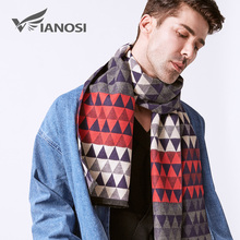 VIANOSI  Brand Scarf Fashion Design Casual Scarves Winter Men's Wool Scarf luxury Brand High Quality Warm Scarves Men VA245