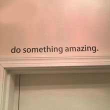 "Free shipping Inspirational quote decal  ""Do Something Amazing"" Over the Door Vinyl Wall Decal Sticker Art  45cm"