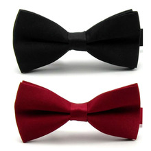 Wholesale new fashion leisure formal commercial male bow tie for men butterfly bowtie bowknot for wedding matt solid colors