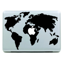 Apple MacBook laptop shell world map local creative personality sticker color sticker without glue