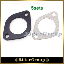 5sets Carburetor Manifold Intake Inlet Pipe Spacer Seal 30mm Gasket For Pit Dirt Bike Motorcycle 150cc 160cc 250cc Engine