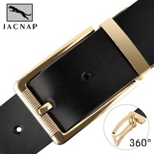 2017 Reversible Men's Dress Belt Leather Reversible Wide Rotated Pin Buckle Belts Designer Fashion Luxury two belts in one