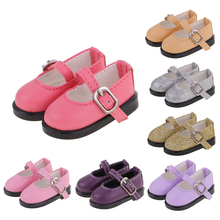 Colorful PU Leather Strap Shoes for 1/6 Dollfie BJD SD MSD LUTS Dolls Costume Dress up Dolls Accessories Toy Gift for Children(China)