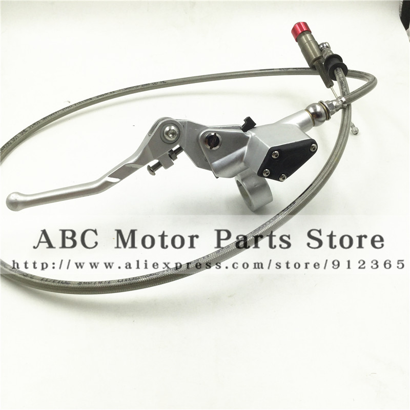 Hydraulic clutch lever master cylinder for dirt bike pit bike motocross use silver colour free shipping 1200MM<br>