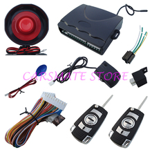 Universal One Way Car Alarm System With Flip Key Remote Central Lock / Trunk Release With LED Status Indicator Carsmate(China)