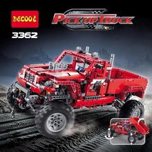 3362 Technic series the Customized Pick up Truck model building blocks compatible 42029 Car-styling Toys for children