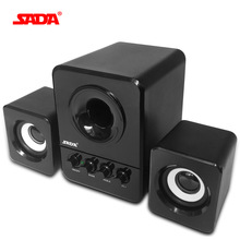 SADA Wired Mini Portable Combination Speaker Laptop Computer Mobile Column Computer Speaker USB 2.1 Bass Cannon 3W PC Speakers