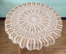 NEW Cotton Crochet tablecloth Table cloth towel Nappe De flowers round lace white fancy Table Cover for garden wedding decor
