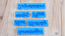 Handwriting cake letters Happy Birthday best wishes printing mold cupcake printing fondant embosser  6 pieces/set