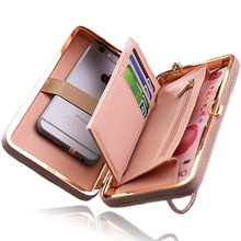 Women Wallet Phone Bag Case for iPhone 7 6 5 4 s 6s 5s 4s Plus Cover for Samsung Galaxy S8 S7 S6 Edge S5 J3 J5 A3 A5 2017 2016