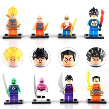 Building Block 8pcs/lot Dragon Ball Z Figure Son Goku/Vegeta/Master Roshi/Krillin Set Models Children Gifts  Toys