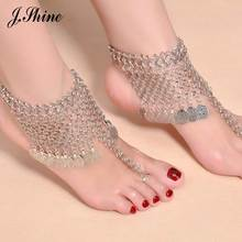 JShine Brand New Arrival Summer Bohemian Style Chain Anklets Silver Color Alloy Design Ankle Bracelet Foot Jewelry Anklet 1 pcs(China)