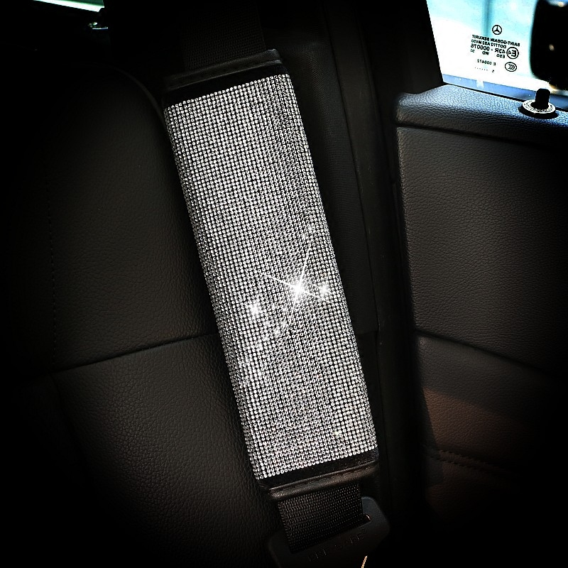 Crystal-Rhinestone-Car-Shifter-Covers-Car-Hand-Brake-Grips-Set-Seat-Belt-Protector-Car-Interior-Accessories-45
