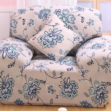 Blue Stretch Sofa Covers Couch Cover Noble European Printed Couch Protectors Flower Plaid Sofa For Furniture Case  Cushions