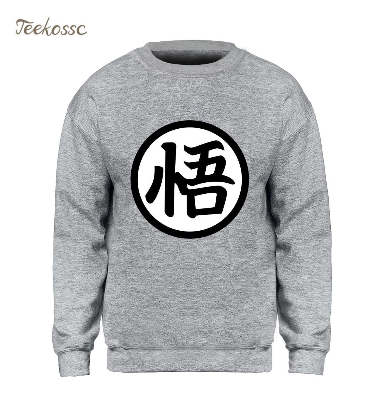 Dragon Ball Sweatshirt Men Harajaku Hoodie Japan Anime Crewneck Sweatshirts 2018 Winter Autumn Fleece Super Saiyan Streetwear