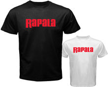 New Rapala Pro Bass Fishinger Lures Tools Men's White Black T-Shirt Size S to 3XL 100% Cotton Short Sleeve O-Neck Tops Tee