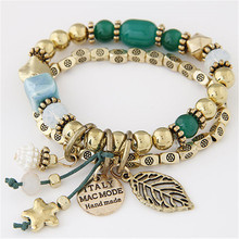 Buy Bohemian Bracelets & Bangles Fashion Gold Beads Charm Bracelets Women Jewelry Multilayer Pulseras Mujer Pulseira Masculina for $2.62 in AliExpress store