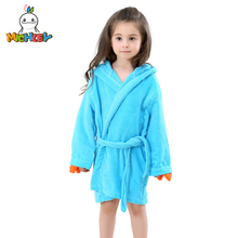 MICHLEY Kids Bath robes Adorable Baby Girl Roupao Hooded Children's Towel Dinosaur Bathrobes Beach Swimwear Boy Pajamas JY0245(China)