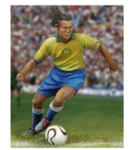 New Unassembled 1/32 Players David Beckham Ronaldinho Kits Resin Kit DIY Toys Unpainted kits(China)