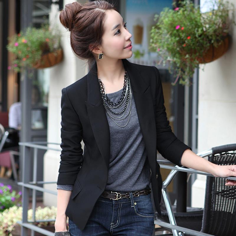 c6bb6156f2f 2015 Hot Fashion New Blazer Women All-Match Slim Small Suit Blazer Feminino  S-XXXL Autumn Female Plus Size Short Design Suit