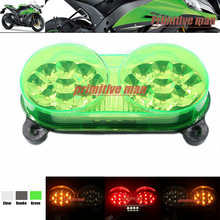 High Quality Motorcycler Integrated LED Tail Light Turn signal Blinker For Kawasaki Ninja ZX6R ZZR600 ZX9R ZX900 Z750/S Green