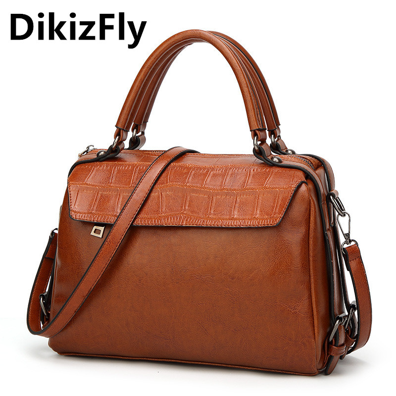 DikizFly New Style handbags Fashion Alligator women messenger bags Casual tote luxury handbags women bags designer sac a main <br>