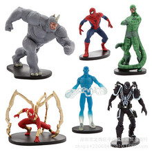 Free shipping DHL 100set  Spiderman Toys Marvel Superhero The Amazing Spider-man PVC Action Figure Collectible Model Toy