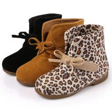 Spring and Autumn girls boots children 's shoes baby shoes Korean version of the Leopard male Martin boots boots shoes(China)