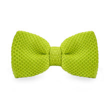 LF-306 New Arrival Knitted Crochet Men`s Bowties Adjustable Yellow Green Solid Neckwear For Men Party Bussiness Free Shopping