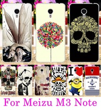 AKABEILA Cool Skull Head Phone Skull Life Shell For Meizu M3 Note Bag Meilan Note 3 Meilan Note3 5.5 Cases Soft TPU Hard PC