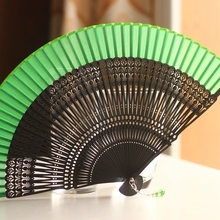 Japanese Folding Fan Silk Dance Noble Sculpture Tulip Carving Hollow Out Fan Wedding Party Favors Gift with Tassle and Case